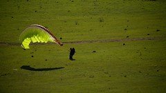 Al bringing down the wing (overflow50) Tags: paragliding paraglider canberra springhill spring australia sky clouds