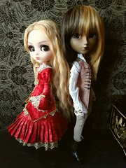 Constanza & Aim (Lunalila1) Tags: doll groove junplaning taeyang pullip bloody red hood another king monna kojima aim lobato pirata pirate handmade outfit veritas costura crimson couple constanza