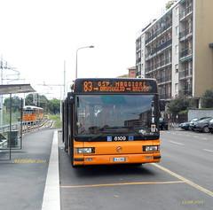 Milano: CityClass n6109 al capolinea 83 COMASINA con Tram (Alefilobus) Tags: milano milan cityclass cursor iveco irisbus bus buses line route linea italy