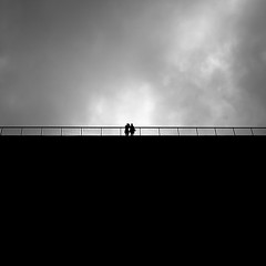 Hold the line.. (Peter Levi) Tags: street city blackandwhite bw woman man blancoynegro silhouette sweden stockholm streetphotography minimalism x100 bestcapturesaoi elitegalleryaoi ringexcellence fujifilmx100 fujix100 fujifilmfinepixx100