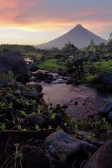 Mayon at dusk (vsupetran) Tags: mountain landscape volcano philippines bicol luzon mtmayon legaspi daraga albay landscapeinportrait