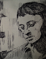 Guy DeBord (giveawayboy) Tags: portrait pen sketch drawing si psychogeography author drive marxism philosopher situationist marxist spectacle dtournement guydebord situationistinternational letterist