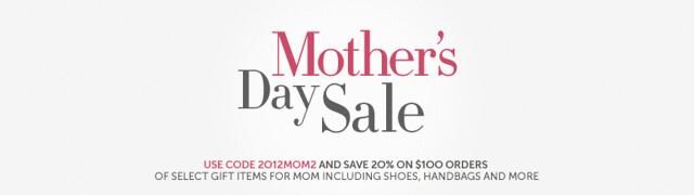 美国亚马逊:母亲节活动,订单满$100,优惠20%
