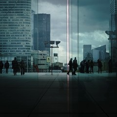 Business time (bpixel) Tags: city people urban paris france building glass businessman architecture cities business dfense grandearche