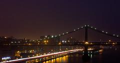 Brooklyn Bridge (-gunjan) Tags: city nyc newyorkcity longexposure bridge light urban usa newyork water architecture brooklyn night reflections lights interesting brooklynbridge suspensionbridge lightstreams gmphotography