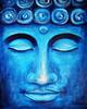 Blauer Buddha (Acrylbilder) Tags: buddha kunst blau acrylbilder acrylgemälde dorispohl