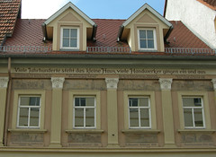 (:Linda:) Tags: germany thuringia town eisenberg dormer window written pillar painting year gaupe dachgaupe sule gaube pilaster dachgaube column