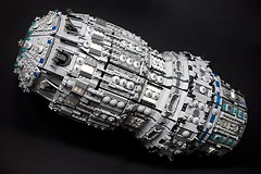Prometheus (Fianat) Tags: light brick stars star war power lego space pirates nasa pirate universe pf prometheus starfighter eurobrick fuctions
