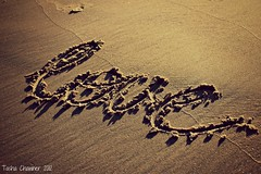 Love (Tasha Chawner) Tags: love beach word sand wordless wordlesswednesday