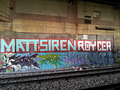 Matt siren Roycer (Choice Royce) Tags: nyc blue red train roycebannon tracks roller mattsiren