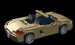 2013 Porsche Boxster - (981) (lego911) Tags: auto car model lego suspension render 911 engine convertible german porsche boxer boxster cad sportscar racer 991 moc 918 ldd 981 miniland 2013 foitsop lego911 midmounted