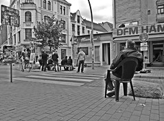 public viewing 1 (maramillo) Tags: street urban white black sitting soccer bn behind em calcio fusball publicviewing pregamewinner maramillo