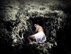 Reborn In Nature. (Dejenee Renee.) Tags: green dark naked photography body eerie fields newbeginnings project104 brenzier brenziermethod dejeneerenee dejeneeshiflet reborninnature