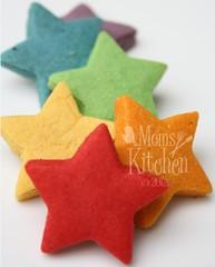 rainbow cookie project : bite-size stars (momskitchen) Tags: rainbow cookie puzzle bitesize puzzlecookie
