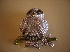 Butler & Wilson Owl Brooch (Bracelets To Buckles) Tags: jewellery owl to bracelets buckles
