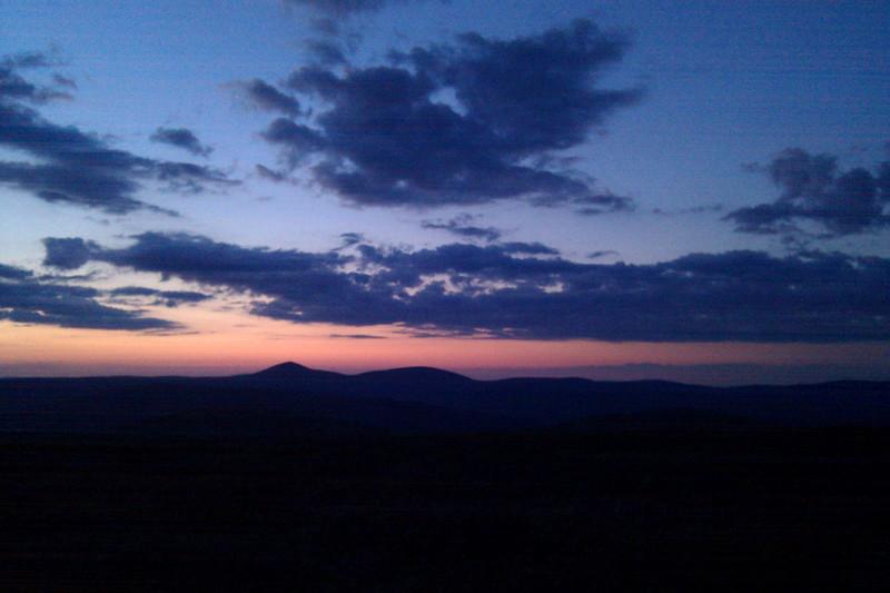 Last light over Mount Keen