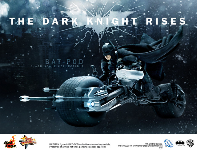 Hot Toys - MMS177 - The Dark Knight Rises: 1/6th scale Bat-pod Collectible