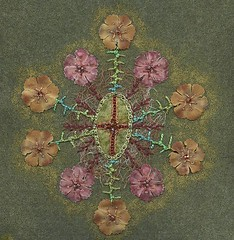Sea Squirt Fancy (Aranthe) Tags: june beads embroidery beading 2012 week23 week22 flystitch tast chainstitch minichallenge ernsthaeckel featherstitch stemstitch knottedcretanstitch