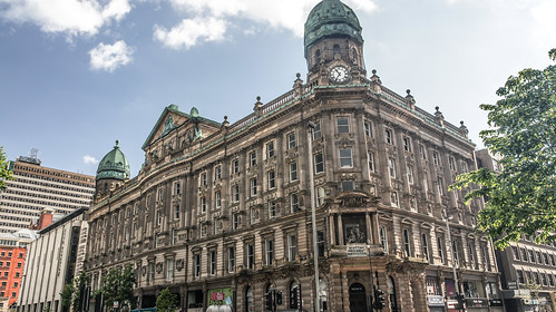 Scottish Provident Institution. 1902. Glasgow blonde sandstone. Donegall Square West, Belfast, Northern Ireland.