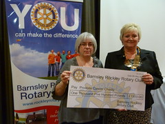 Prostate Cancer Charity -  Barnsley Rockley Rotary Club - Cheque Presentation (woodytyke) Tags: barnsley yorkshire display big 2012 prostate cancer charity rockley rotary club international project fundraising woodytyke england english britain british uk united kingdom ribi members team district 1270 ri popup banner cheque presentation president brooklands holiday inn logo d1270 stephen woodcock photo flickr photographer photograph picture image digital camera phone colour color country national foto best 1 2 3 4 5 6 7 8 9 10