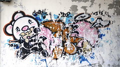 Graffiti, All along the  (slowpoke_taiwan) Tags: street streetart art graffiti taiwan murals taichung  tw   streetgraffiti     taichungcity