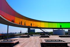 """Your Rainbow Panorama"" by Olafur Eliasson at the ARoS (どこでもいっしょ) Tags: panorama denmark view balticsea walkway aros artmuseum scandinavia olafureliasson aarhus zoomlens 360º northerneurope m43 colorsoftherainbow mirrorless microfourthirds olympusmzuikodigitaled14150mmf4056 yourrainbowpanorama olympuspenep3"