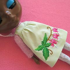 Chocolate Pudding (Helena / Funny Bunny) Tags: doll african afro blythe custom sbl chocolatepudding mademoisellerosebud funnybunny greensmocks fbfashion
