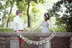 Austin && Jennifer (Amy Renee) Tags: park trees boy girl smile stairs austin outdoors engagement holding couple hand dress jennifer bow shorts warrensburg iloveyoualways