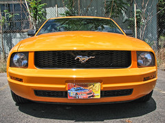 Ford Mustang (*Checco*) Tags: auto orange usa classic ford car wheel sport race speed vintage outdoors drive design model automobile power muscle wheels transport performance engine machine fast style automotive retro pony american transportation vehicle motor mustang gt fordmustang brand coupe roadster