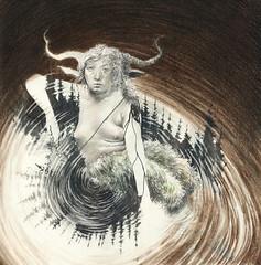 Nkken (Ingri Haraldsen) Tags: water animal neck spirit like folklore nix nyx nixie shapeshifting nkken