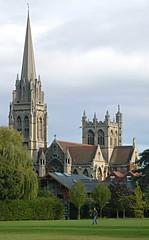 (robep) Tags: uk cambridge england tower architecture catholic steeple downingcollege universityofcambridge ourladyandtheenglishmartyrschurch