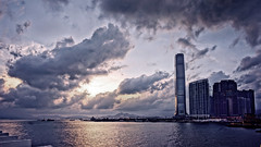Hong Kong harbour city (Andypk99) Tags: city sunset night cityscape cloudy sony voigtlander wide hong kong 12mm f56 scape ultra hdr habour nex 5n