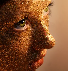 all that glitters is not gold... (A_Gould) Tags: portrait selfportrait glitter self sparkle 365 365days