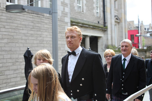 Kevin McKidd and his family at the Drinks Reception at the Surgeon's Hall