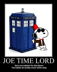 PEANUTS : Snoopy as Doctor Who (or is it Doctor Whoof?) (DarkJediKnight) Tags: poster who dr humor fake peanuts doctor snoopy parody spoof charlesschulz tardis joecool motivational mattsmith