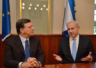 Jose Manuel Barroso meets with Benjamin Netanyahu, Prime Minister of Israel