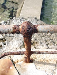 Rustic Rusty Railing (Seaside-Mike) Tags: sea metal seaside sand rust pentax rusty australia southaustralia rustyandcrusty edithburgh sea2side mikestobaphotography