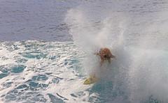 foamed and sprayed (bluewavechris) Tags: ocean sea sun water face canon fun hawaii surf ride action surfer board wave maui spray foam surfboard lip thebay swell honoluabay honolua