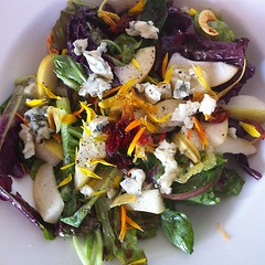 Pear and Roquefort salad