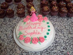 Princess Cake with cupcakes by Brenda L-Santa Cruz Ca., www.birthdaycakes4free.com