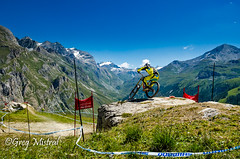United color of ride (Greg Mistral) Tags: sport rock speed jump mountainbike downhill dh worldcup vtt valdisere evenement