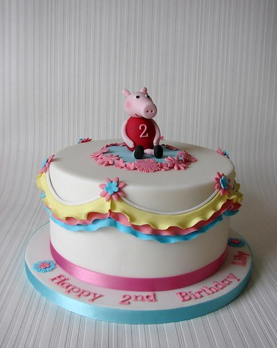 Peppa Pig Cake for Lily's 2nd Birthday!