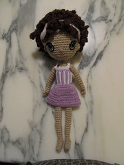 Dee in striped body suit and skirt (Njtexas94) Tags: family crochetdolls freespiritamigurumi