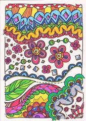 Doodle 110 (kraai65) Tags: zendoodle zentangle doodle colourdoodle zia drawing art abstractart