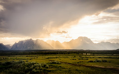Grand Tetons_Wyoming_Liz Kaetterhenry-1 (Liz Kaetterhenry) Tags: sun mountains yellow clouds landscape wyoming grandtetons