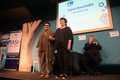 Carol Ann Duffy With Jackie Kay (Edinburgh International Book Festival) Tags: carol ann duffy with jackie kay 2016 edinburgh international book festival music by john sampson