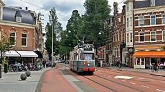 Op vertrouwd terrein (Peter ( phonepics only) Eijkman) Tags: amsterdam city gvb ema museummaterieel museumstel 2g beijnes enkelgeleed tram transport trams tramtracks rail rails reflectionsofthepast strassenbahn streetcars nederland netherlands nederlandse noordholland holland vintage