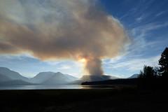 Berry Fire at Grand Teton National Park (thebigtubadaddy) Tags: grandtetonnationalpark fire wildfire nationalpark mountains lake pine trees