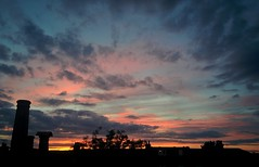 Leyton Sunset (Climate_Stillz) Tags: sunset sunsetcolours coloursatsunset pinksky pinkclouds dippingsun silhouette clouds colouredsky colouredclouds cloudscape eastlondon leyton evening eveningshot mobilephotography nexus5