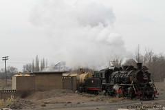I_B_IMG_8230 (florian_grupp) Tags: asia china steam train railway railroad bayin lanzhou gansu desert landscape loess mountains sy ore mine 282 mikado steamlocomotive locomotive